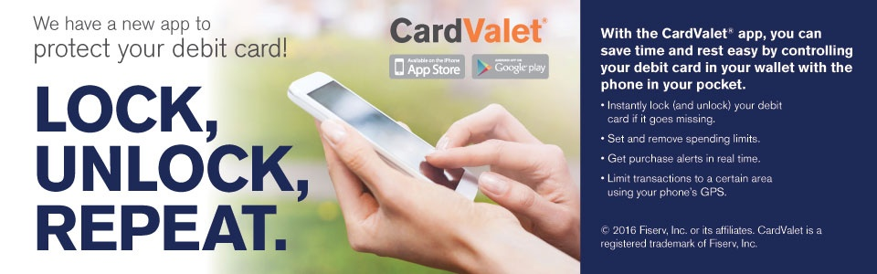 Protect your debit card with CardValet