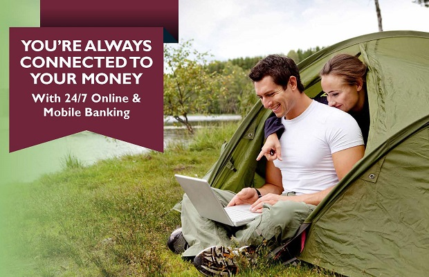 You're always connected to your money with 24/7 online and mobile banking